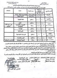 جدول امتحانات الصف الثالث الإعدادى للأقصر