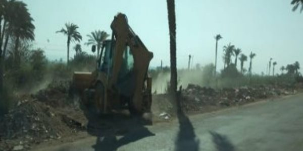 إزالة 120 طن من المخلفات والقمامة بقرى مركز المراغة بسوهاج