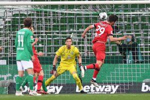 نتيجة الشوط الأول مباراة فيردر بريمن وباير ليفركوزن في الدوري الألماني